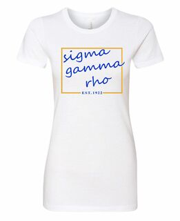 Sigma Gamma Rho Triblend Short Sleeve Box T-Shirt