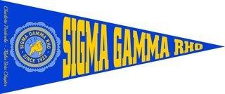 Sigma Gamma Rho Wall Pennants