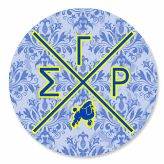 Sigma Gamma Rho Well Balanced Round Decals