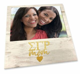 "Sigma Gamma Rho White 7"" x 7"" Faux Wood Picture Frame"