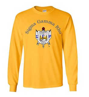 Sigma Gamma Rho World Famous Crest - Shield Long Sleeve T-Shirt - $19.95!