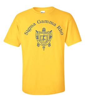 Sigma Gamma Rho World Famous Crest - Shield Tee