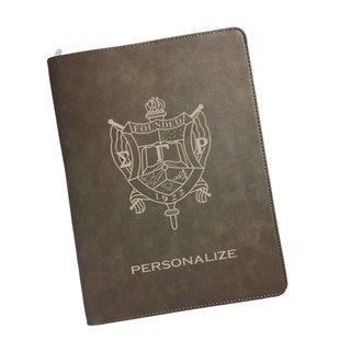 Sigma Gamma Rho Zipper Leatherette Portfolio with Notepad