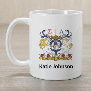 Sigma Iota Alpha Crest Coffee Mug - Personalized!