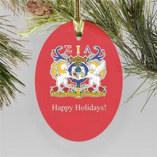 Sigma Iota Alpha Holiday Color Crest - Shield Ornament