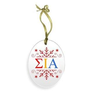 Sigma Iota Alpha Holiday Color Snowflake Christmas Ornament