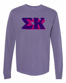 Sigma Kappa 3 D Greek Long Sleeve T-Shirt - Comfort Colors