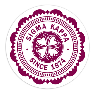 "Sigma Kappa 5"" Sorority Seal Bumper Sticker"