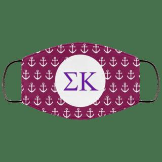 Sigma Kappa Anchors Face Mask
