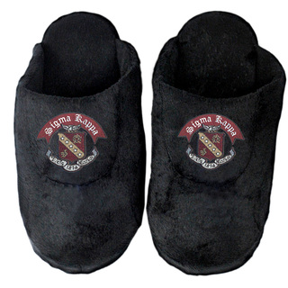 DISCOUNT-Sigma Kappa Black Solid Slipper