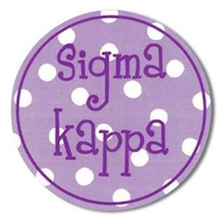 "Sigma Kappa Bumper Stickers 4"" Round"
