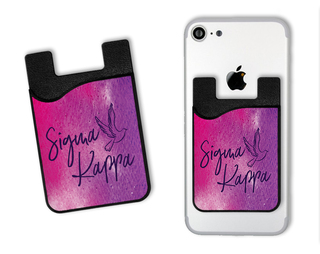 Sigma Kappa Watercolor Caddy Phone Wallet