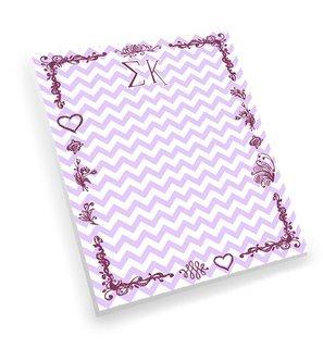 Sigma Kappa Chevron Notepad