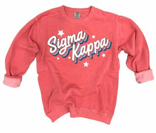 Sigma Kappa Comfort Colors Flashback Crew
