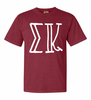 Sigma Kappa Comfort Colors Heavyweight Design T-Shirt
