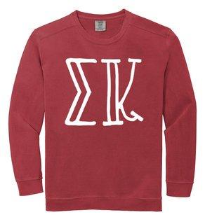 Sigma Kappa Comfort Colors Greek Crewneck Sweatshirt