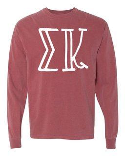 Sigma Kappa Comfort Colors Greek Long Sleeve T-Shirt