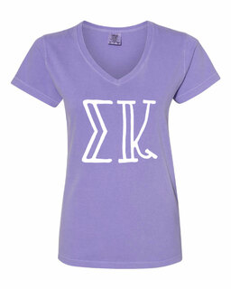 Sigma Kappa Comfort Colors V-Neck T-Shirt