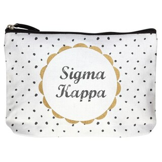 Sigma Kappa Cotton Canvas Makeup Bags