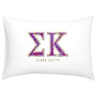 Sigma Kappa Cotton Knit Pillowcase