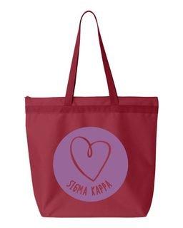 Sigma Kappa Circle Mascot Tote bag
