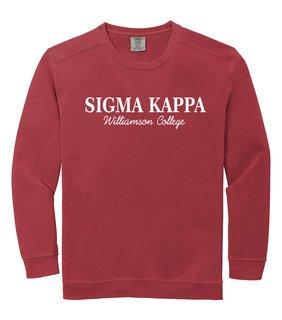 Sigma Kappa Script Comfort Colors Greek Crewneck Sweatshirt