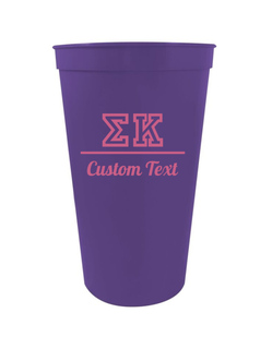 Sigma Kappa Custom Greek Collegiate Stadium Cup