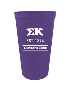Sigma Kappa Custom Greek Cooper Stadium Cup