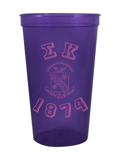 Sigma Kappa Custom Greek Crest Est Stadium Cup
