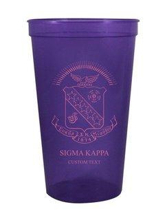 Sigma Kappa Custom Greek Crest Letter Stadium Cup