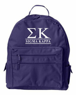 Sigma Kappa Custom Text Backpack