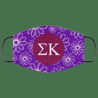 Sigma Kappa Daisies Face Mask