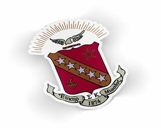 Sigma Kappa Die Cut Crest Sticker