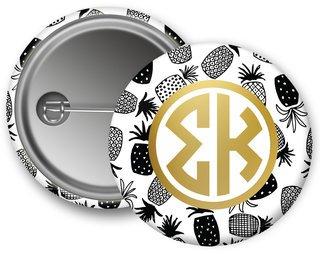 Sigma Kappa Faux Foil Button
