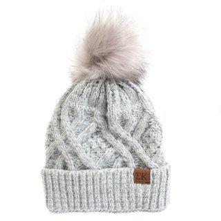 Sigma Kappa Faux Fur Pom Beanie Hat