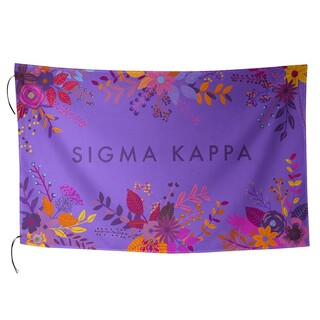 Sigma Kappa Floral Flag
