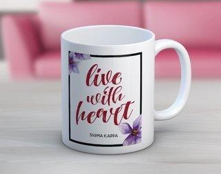 Sigma Kappa Floral Motto Coffee Mug