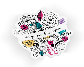 Sigma Kappa Flower Sticker