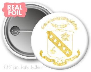 Sigma Kappa Foil Crest - Shield Button