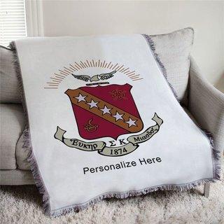 Sigma Kappa Full Color Crest Afghan Blanket Throw