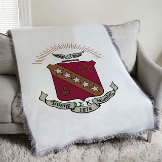 Sigma Kappa Full Color Crest Afghan Blanket Throw