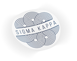 Sigma Kappa Geo Scroll Sticker Sticker