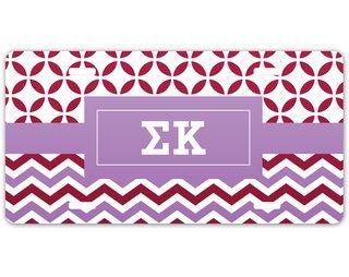 Sigma Kappa Geometric License Plate