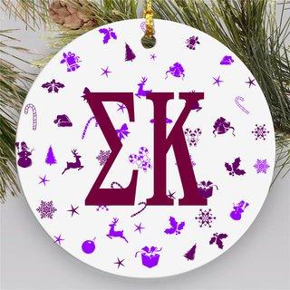 Sigma Kappa Holiday Cheer Ornaments