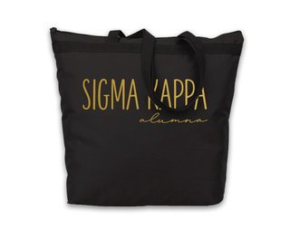 Sigma Kappa Gold Foil Alumna Tote