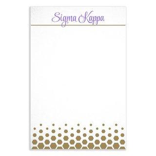 Sigma Kappa Gold Notepads