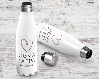 Sigma Kappa Live With Heart Water Bottle