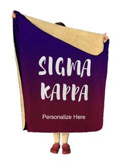 Sigma Kappa Gradient Sherpa Lap Blanket