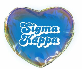 Sigma Kappa Heart Shaped Makeup Bag