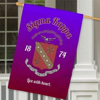 Sigma Kappa House Flag